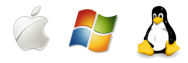 Supported OS: Windows, Mac OSX and GNU Linux